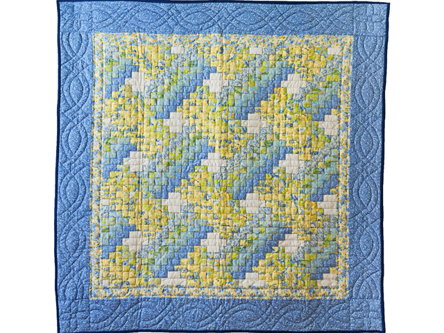 Beautiful Blue & Yellow Weaver Fever Wall Hanging Photo 1