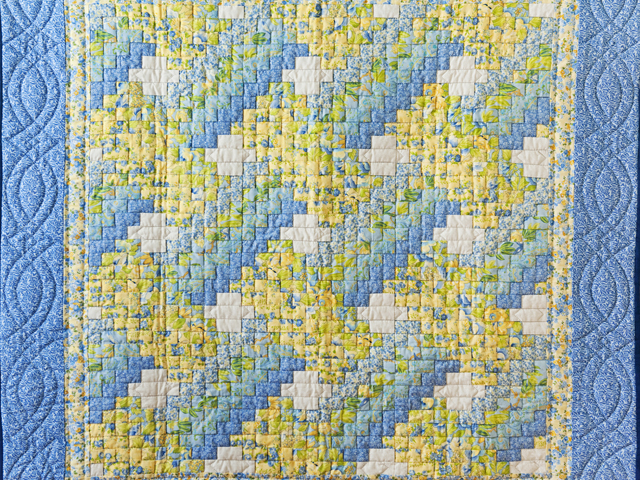 Beautiful Blue & Yellow Weaver Fever Wall Hanging Photo 2