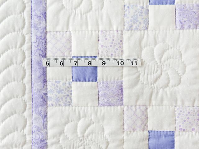 Soft Lavender & White Nine Patch Crib Quilt Photo 5