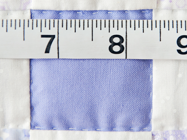 Soft Lavender & White Nine Patch Crib Quilt Photo 6