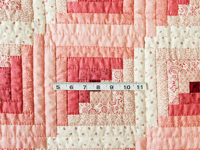Precious Rose, Pink & Cream Log Cabin Quilt Photo 3