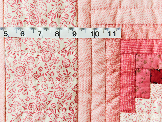 Precious Rose, Pink & Cream Log Cabin Quilt Photo 4