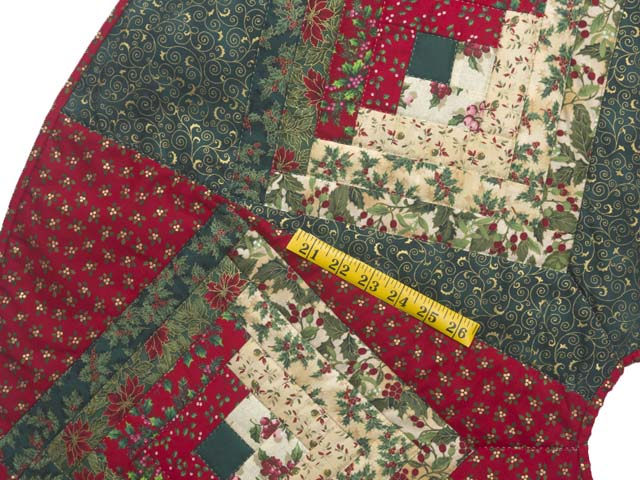 Lone Star Log Cabin Christmas Tree Skirt Photo 3