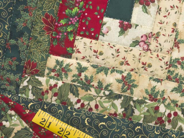 Lone Star Log Cabin Christmas Tree Skirt Photo 4