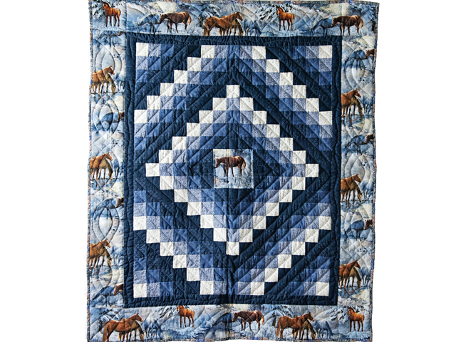 Beautiful Horses Trip Around The World Quilt Photo 1