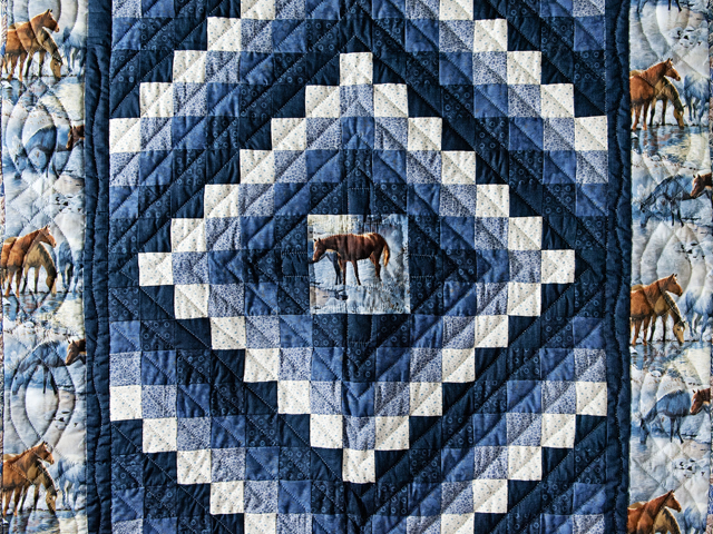 Beautiful Horses Trip Around The World Quilt Photo 2