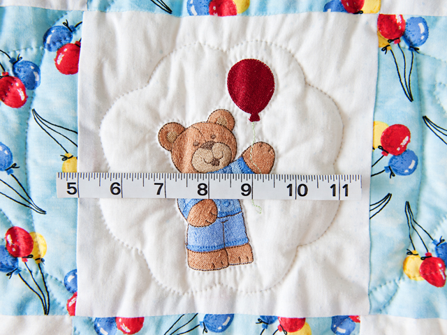 Party Bears & Balloons Crib Quilt Photo 4