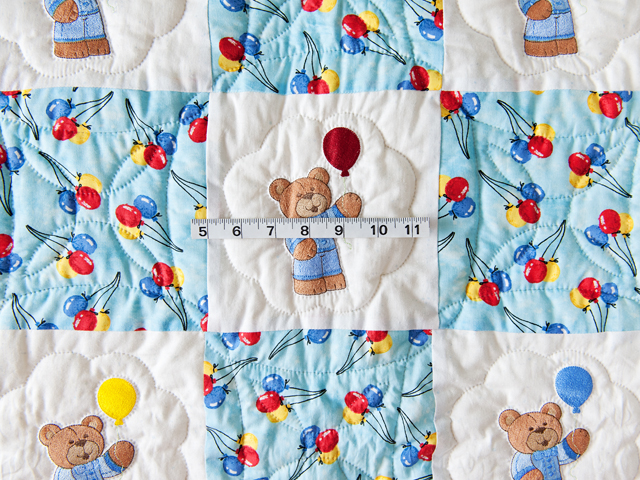 Party Bears & Balloons Crib Quilt Photo 5