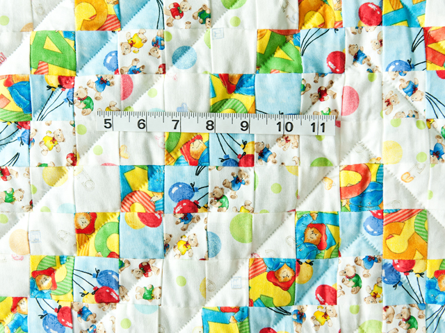 Teddy Bear Trip Around The World Crib Quilt Photo 5