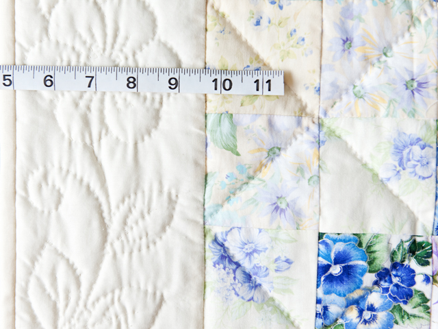 Watercolor Floral Trip Around The World Quilt Photo 4