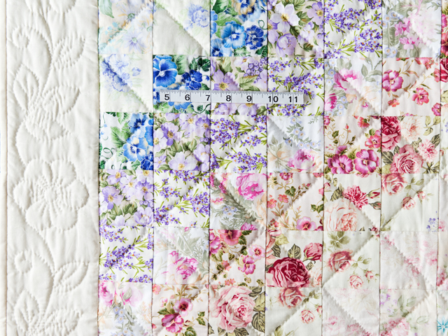 Watercolor Floral Trip Around The World Quilt Photo 5