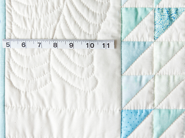 Aqua and Natural Triangle Ocean Wave Quilt Photo 3