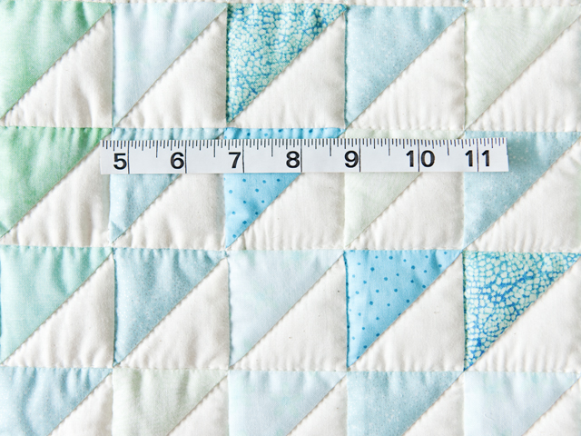 Aqua and Natural Triangle Ocean Wave Quilt Photo 4