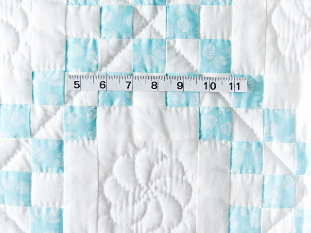 Aqua and White Irish Chain Quilt Photo 3