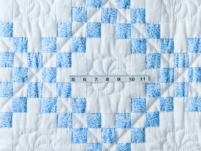 Whimsical Blue & White Irish Chain Quilt Photo 3