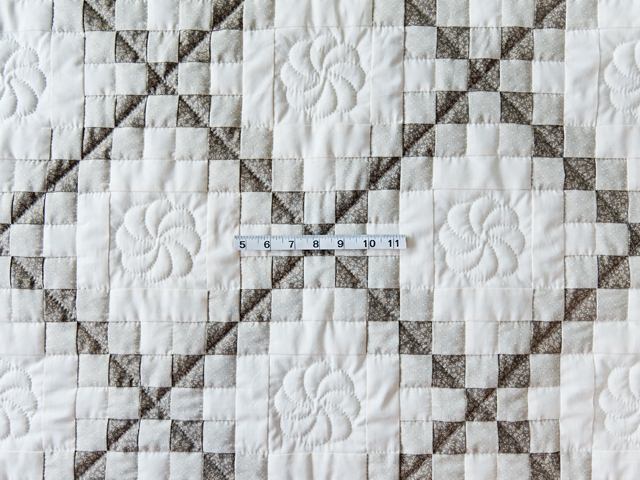 Winter Gray and Natural Irish Chain Quilt Photo 3