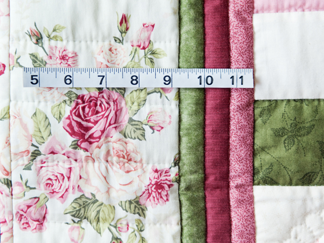Roses, Pink and Green Hearts and Nine Patch Quilt Photo 4