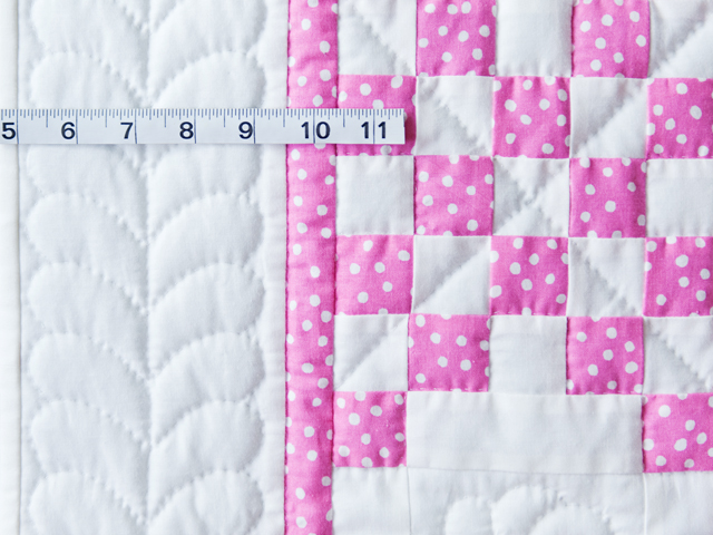 Princess Pink & White Irish Chain Crib Quilt Photo 5