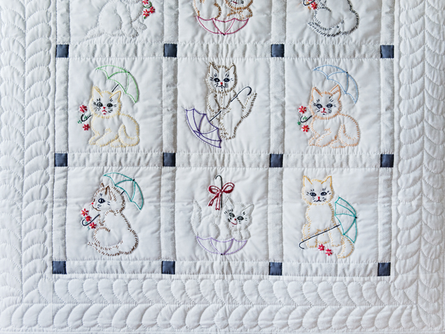 Classy Cats Embroidered Quilt Photo 2