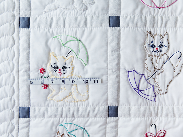 Classy Cats Embroidered Quilt Photo 3