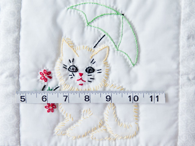 Classy Cats Embroidered Quilt Photo 4