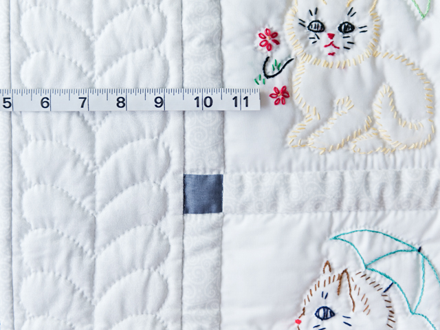 Classy Cats Embroidered Quilt Photo 5