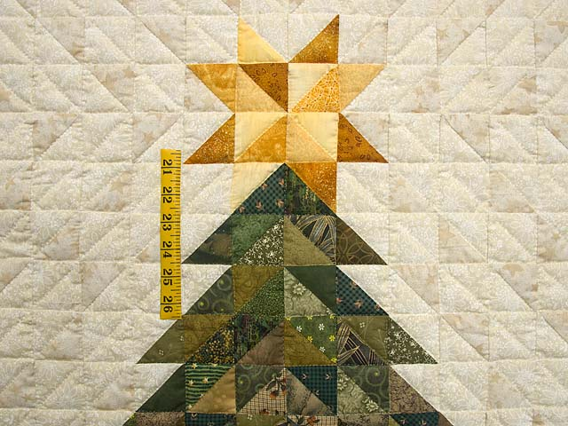 Dazzling Patchwork Christmas Tree Wall Hanging Photo 3