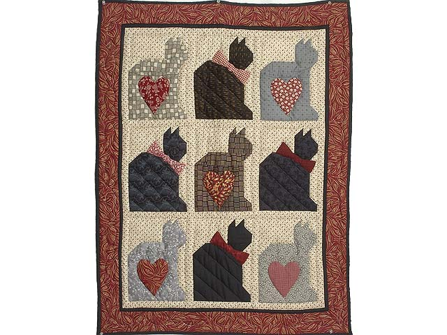 Charming Cats Patchwork Wall Hanging Photo 1