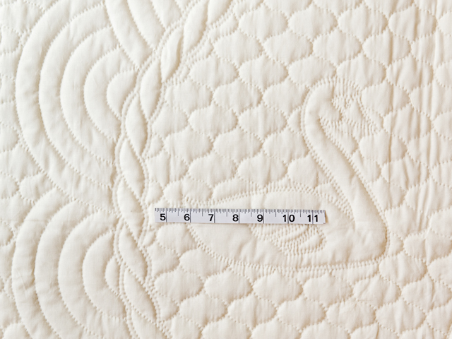 Extra Fine Creamy Yellow All Quilted Swans and Swirls Crib Quilt Photo 3