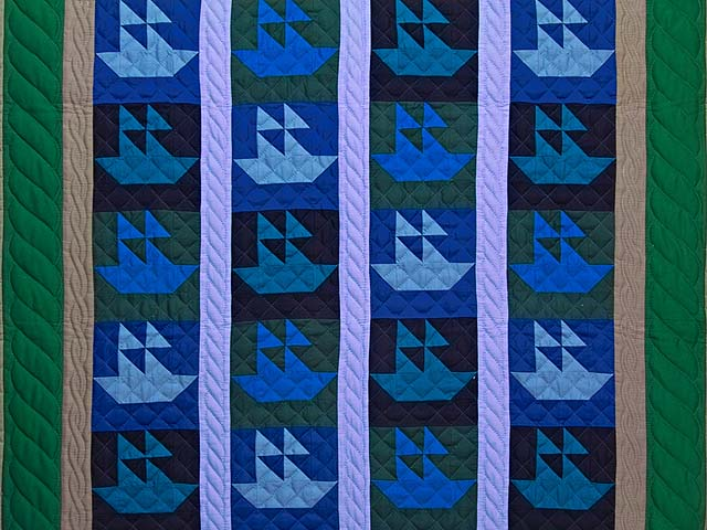 Indiana Amish Sailing Ships Quilt Photo 2
