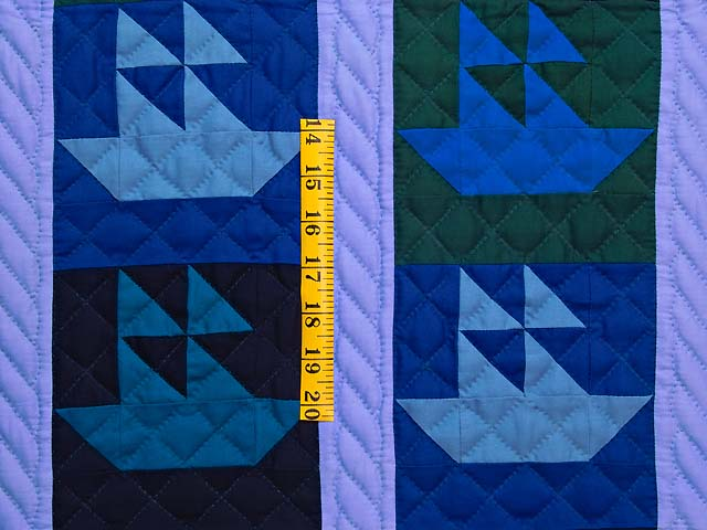Indiana Amish Sailing Ships Quilt Photo 3