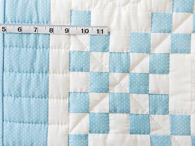 Beautiful Blue and White Irish Chain Crib Quilt Photo 3