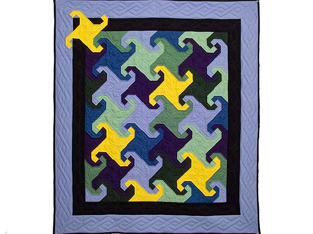 Indiana Amish Puzzle Pieces Quilt Photo 1