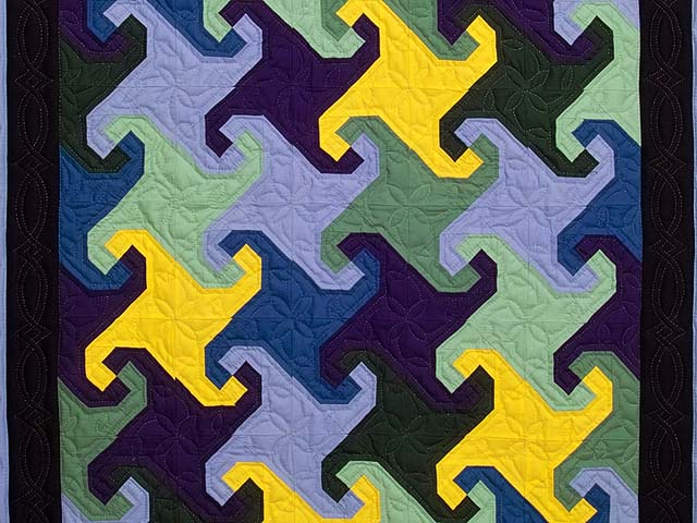 Indiana Amish Puzzle Pieces Quilt Photo 2