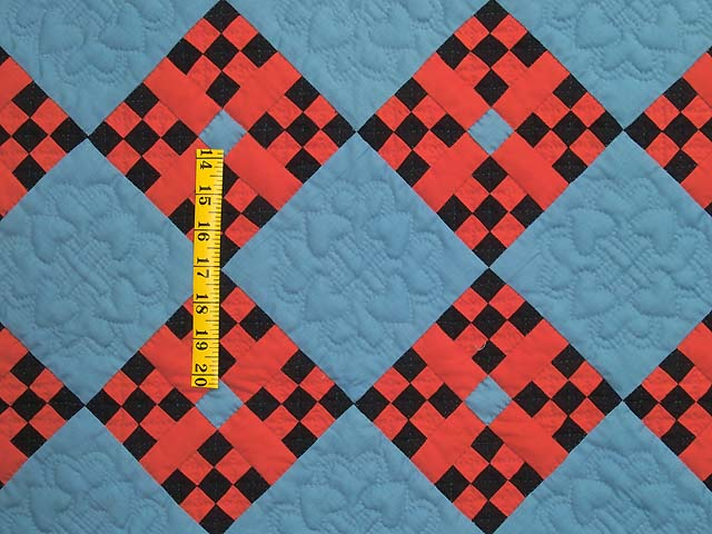 Indiana Amish Nine Patch Cross Quilt Photo 3