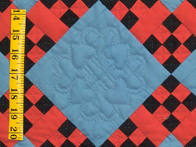Indiana Amish Nine Patch Cross Quilt Photo 4