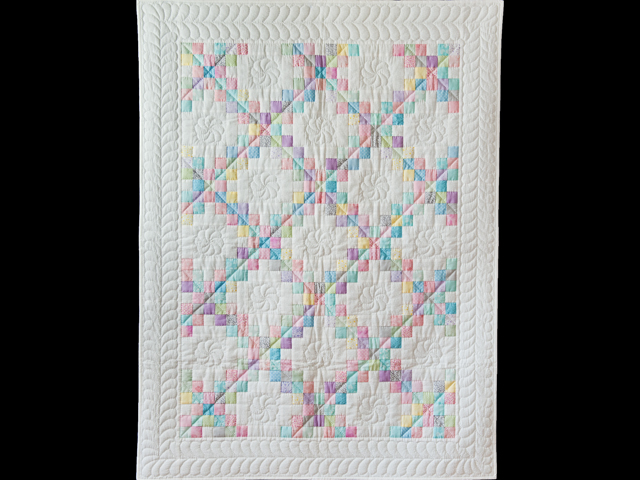 Soft Pastels and White Irish Chain Quilt Photo 1