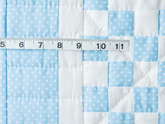 Beautiful Blue and White Irish Chain Crib Quilt Photo 4