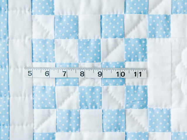 Beautiful Blue and White Irish Chain Crib Quilt Photo 5