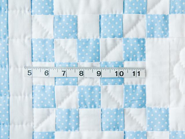 Beautiful Blue and White Irish Chain Crib Quilt Photo 5