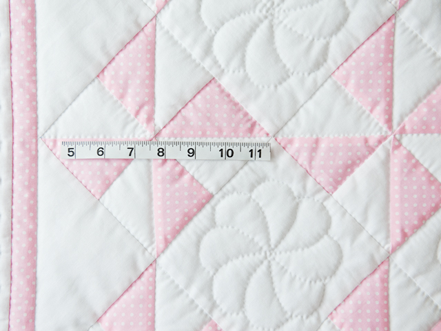 Princess Pink and White Pinwheel Crib Quilt Photo 3