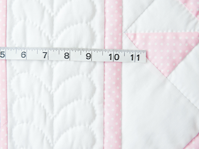 Princess Pink and White Pinwheel Crib Quilt Photo 5