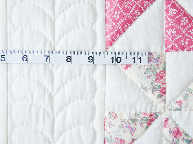 Lovely Floral Rose, Pink and Cream Pinwheel Quilt Photo 4