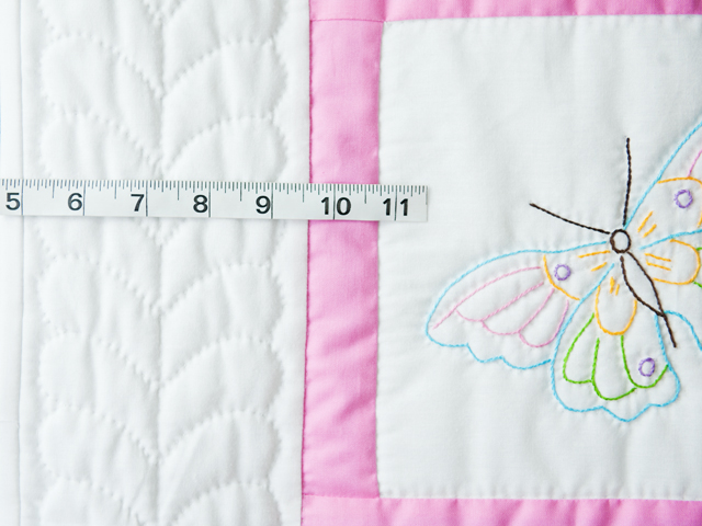 Beautiful Embroidered Butterflies Crib Quilt Photo 4