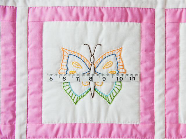 Beautiful Embroidered Butterflies Crib Quilt Photo 5