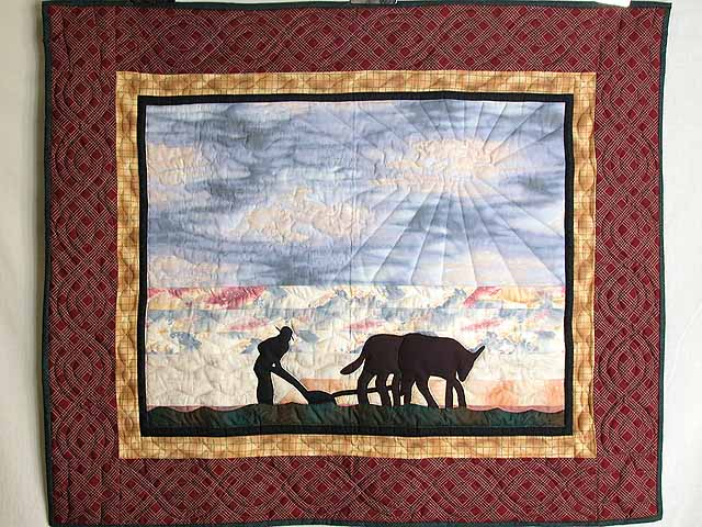 Plowman and Oxen Wall Hanging Photo 1