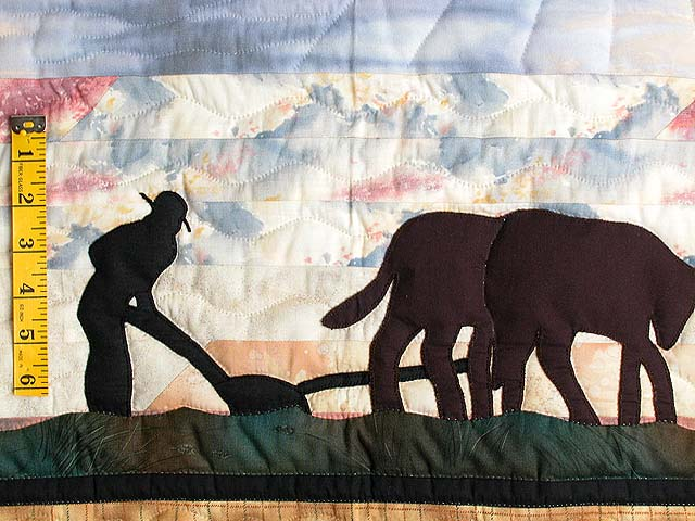 Plowman and Oxen Wall Hanging Photo 3