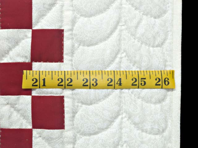 Red and White Irish Chain Quilt Photo 5