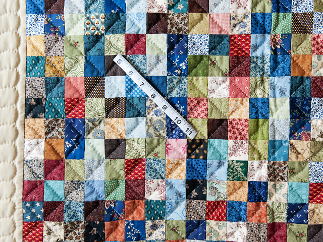 Multi and Tan Hit or Miss Quilt Photo 5