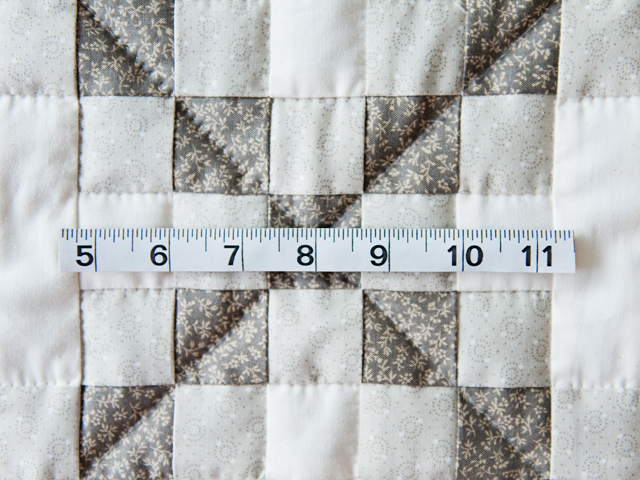 Winter Gray and Natural Irish Chain Quilt Photo 4